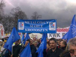 Pikieta pod Sejmem 30 marca 2012