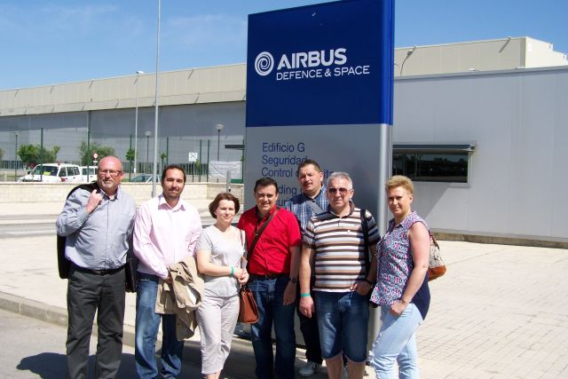 Wizyta studyjna w zakładach lotniczych w Hiszpanii