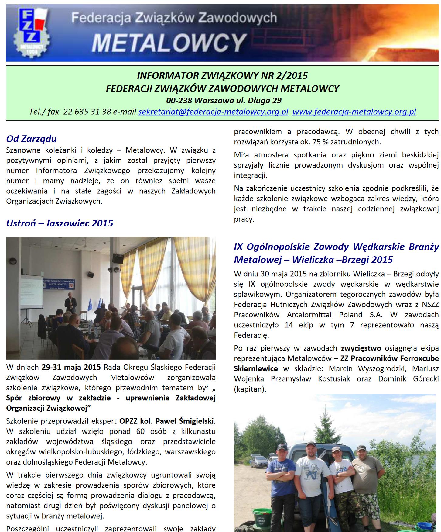 Informator Związkowy 2/2015