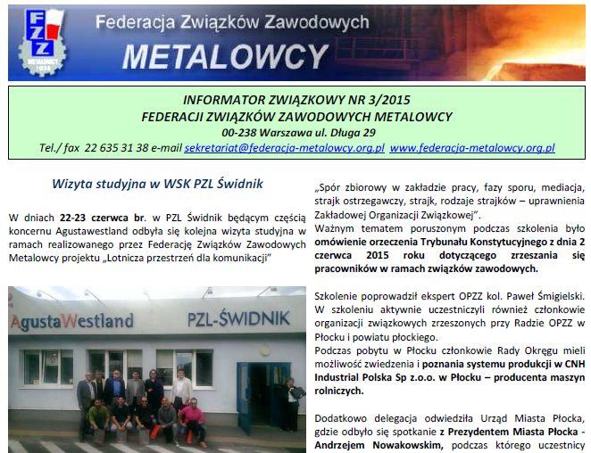 Informator Związkowy 3/2015