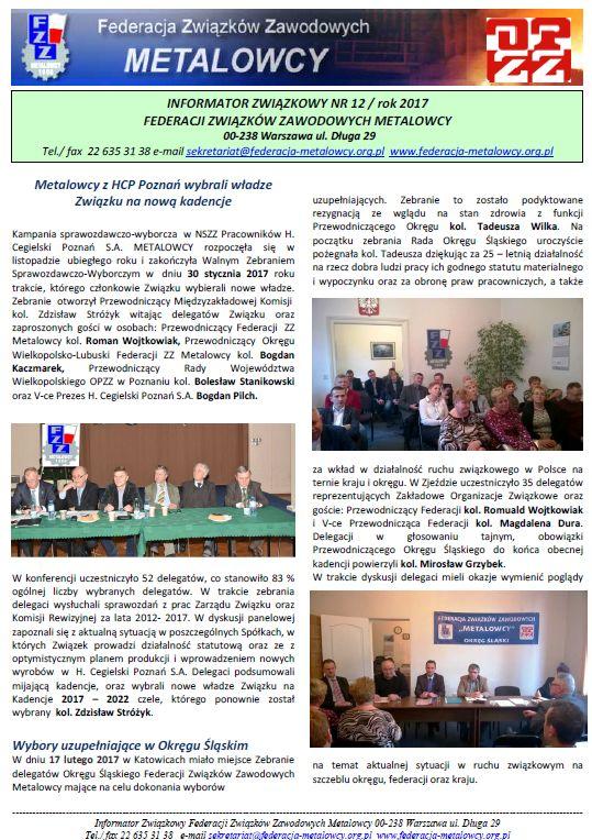 Informator związkowy 12/2017