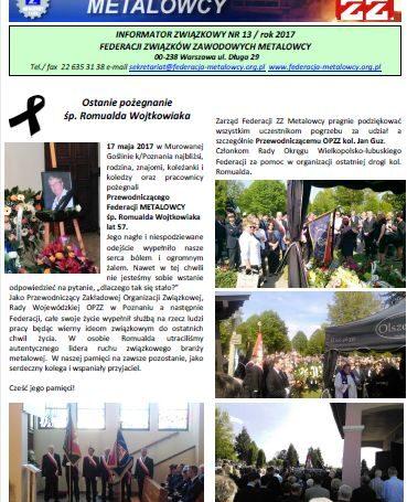 Informator związkowy 13/2017
