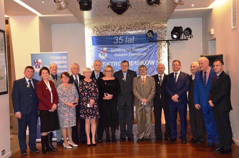 35 lat Samorządnego Niezależnego Związku Zawodowego ELEKROCHEMIKÓW Exide Technologies S.A. w Poznaniu