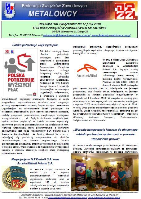 Informator związkowy 17/2018