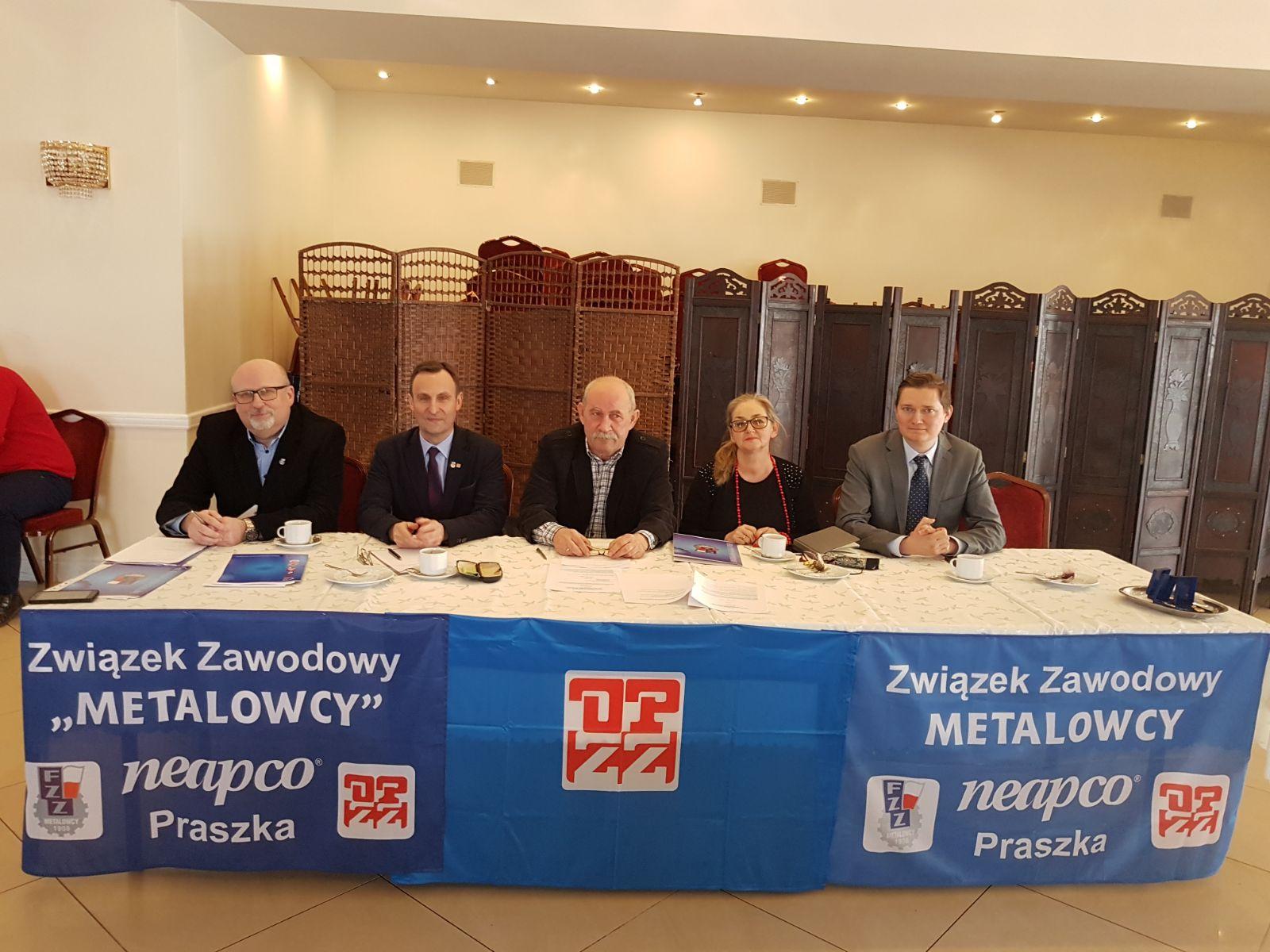 Metalowcy Neapco Praszka wybrali władze związkowe na lata 2018 – 2022