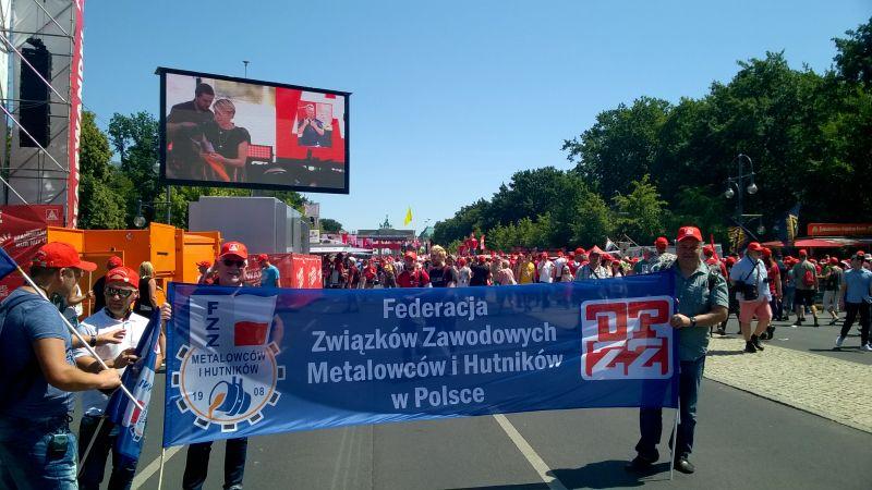 """Manifestacja IG Metall – """"Solidarnie przez transformację"""""""