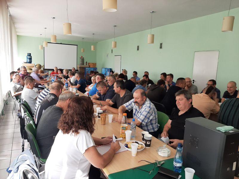 Związkowcy NSZZ Pracowników GZWM w Grodkowie  wybrali nowe władze