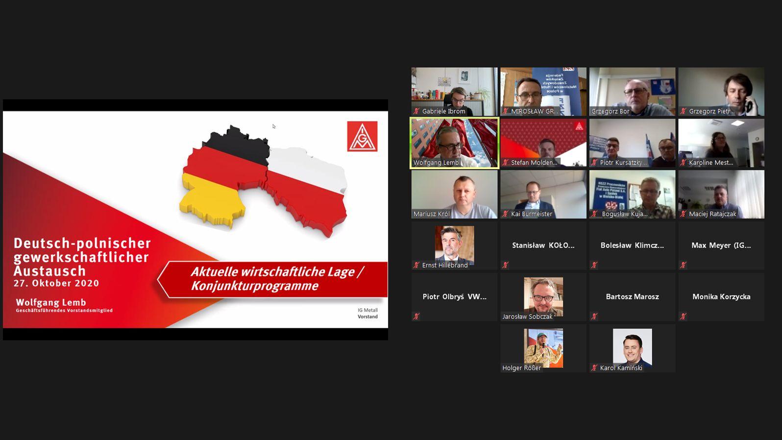 Wirtualne polsko-niemieckie spotkanie związkowe