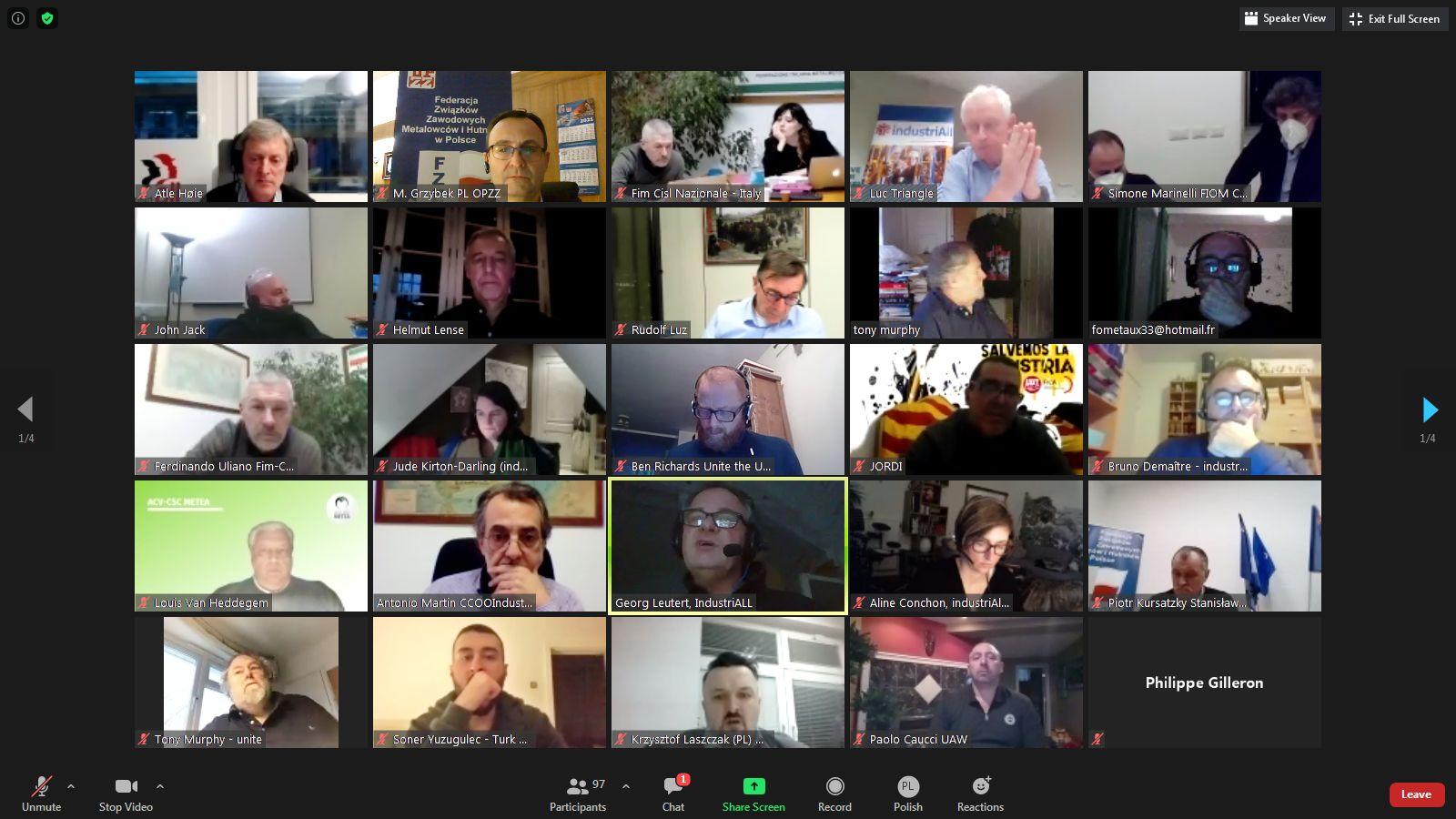 Koordynacyjne spotkanie Związków Zawodowych Stellantis
