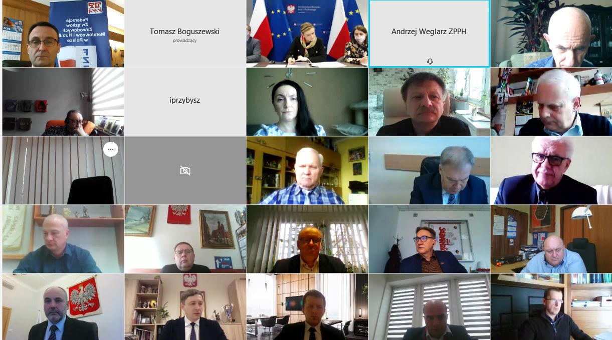 Webinarium – Zespołu Trójstronny ds. Społecznych Warunków Restrukturyzacji Hutnictwa