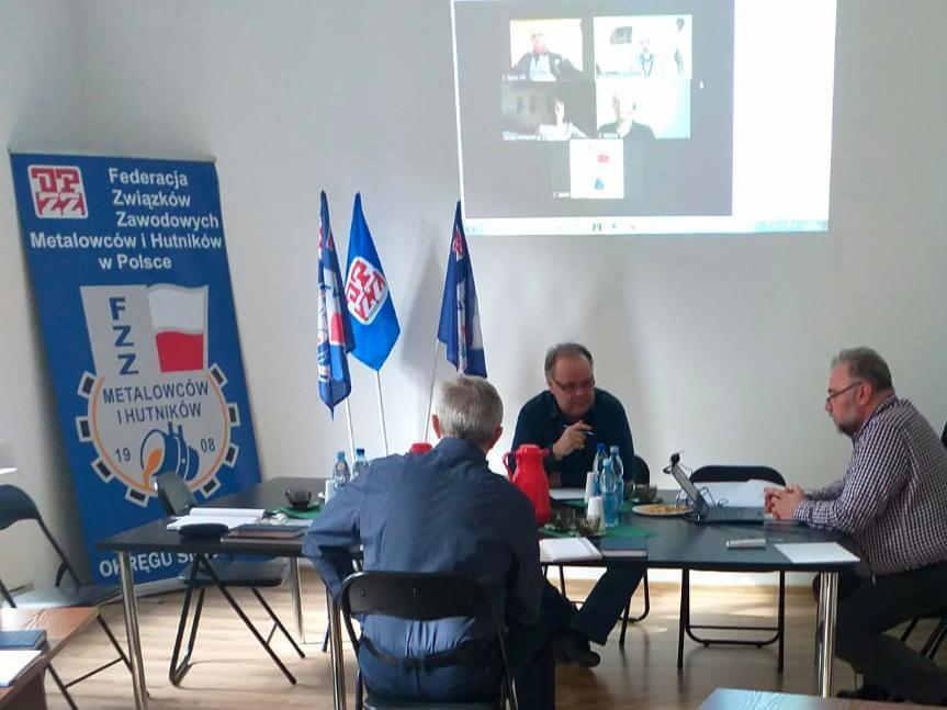 Spotkanie związkowców Alstom w Katowicach