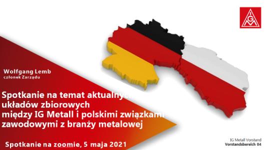 Polsko-niemieckie spotkanie związkowe z IG Metall 5 maja 2021
